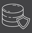 data protection line icon seo and development vector image