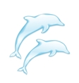 Dolphins silhouette of water vector image