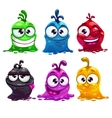 Funny cartoon liquid characters vector image