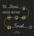 House repair poster vector image