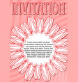 invitation template in pink and red design with vector image
