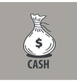 logo bag of money vector image