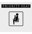 Mom or mother with child sign Priority seating for vector image