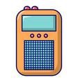 portable radio icon cartoon style vector image