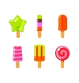 Fruit ice cream bar in flat style vector image