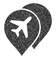 Airport Markers Icon Rubber Stamp vector image