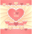 Valentines Card with hearts and scrapbooking eleme vector image vector image