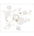 network of the circles vector image