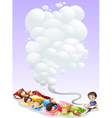 Children taking nap vector image vector image