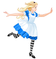 Running Alice vector image vector image