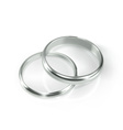 Pair of silver wedding rings vector image vector image