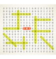 word search puzzle vector image vector image