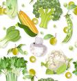 Seamless vegetarian vegetable green ornament vector image vector image