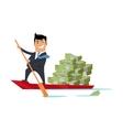 Escape With Money Concept Flat Design vector image