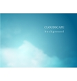 Abstract blue cloudscape background vector image vector image