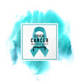 cervical cancer support emblem vector image