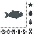 fish icon on backgroun vector image