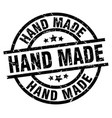 hand made round grunge black stamp vector image