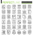 shopping outline mini concept symbols e-commerce vector image