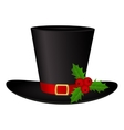 Snowman Hat on a white background isolated vector image