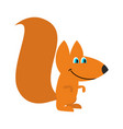 squirrel isolated funny wild animal with bushy vector image