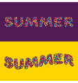 Summer card of multi colored little balls vector image