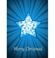 Blue Christmas star card vector image vector image