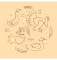 Set logotype poultry farm vector image
