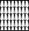 monochrome background pattern with man bodybuilder vector image