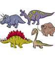 prehistoric set cartoon vector image vector image