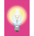 light bulb background vector image vector image