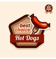 hot dogs logo vector image