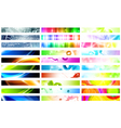 web banner set vector image vector image