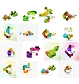 Set of abstract geometric infographic banner vector image