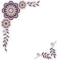 Flower decorative frame element for design vector image