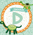 ABC animals D is dinosaur Childrens english vector image