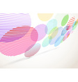 Bright retro striped circles fly background vector image