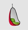 Egg chair- interior design furniture vector image