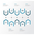 music outline icons set collection of soundtrack vector image