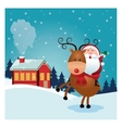 santa cartoon icon Merry Christmas design vector image