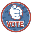 Vote USA badge vector image