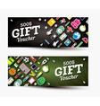 Gift voucher template with school supplies vector image vector image