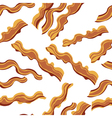 White bacon textile print food seamless pattern vector image