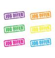 job offer set vector image vector image