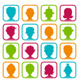 Colorful Man and Woman Avatars vector image vector image