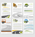 road travel company posters set vector image