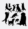 Dog and puppy animal silhouettes vector image