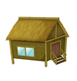 Cartoon hut vector image vector image