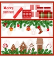 Christmas time set in stripes vector image