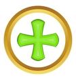 Green cross icon vector image